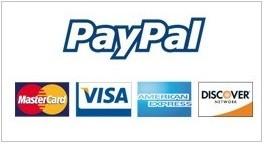 Paghi con PayPal o Carta di Credito